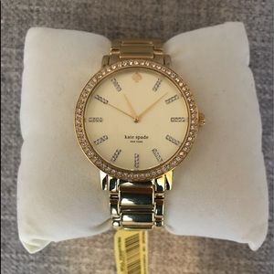 Kate Spade Gramercy Gold Crystal Watch (Brand New)